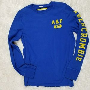 Men's Abercrombie & Fitch (Blue/Yellow) Shirt (Md)